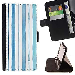 - Blue Lines Barcode Summer Rain - Estilo PU billetera de cuero del soporte del tir???¡¯????n [solapa de cierre] Cubierta- For HTC Desire 820 £š Devil Case £©