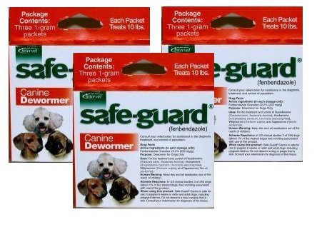 51DEq5YdR8L - Excel Safe-Guard Canine DeWormer for Small Dogs Pack of 3 (9 pouches)