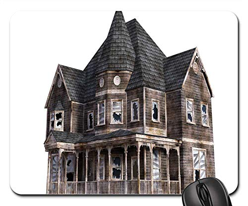 Mouse Pad - Halloween Horror Haunted House Nightmare Villa]()
