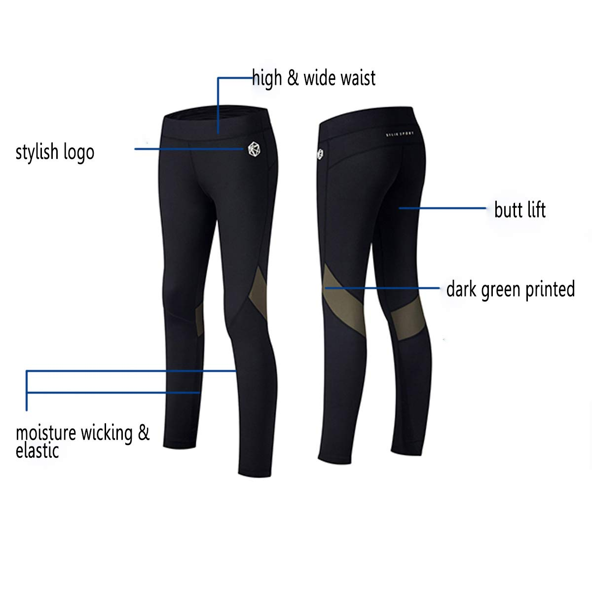 Mujer Silik Pantalons Deportivos De Empalme Con Bolsillo De Cintura Alta Pantalones De Yoga De Tela De Malla Elasticos Para Mujer Ropa Brandknewmag Com