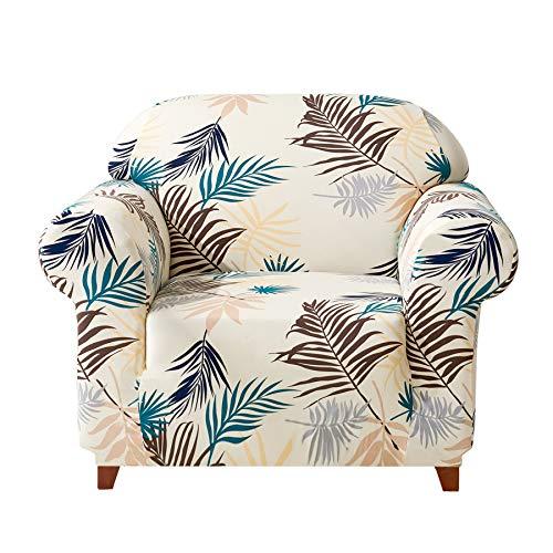 Subrtex 1-Piece Leaves Stretch Sofa Slipcovers