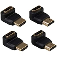 XuBa 2 Pairs HDMI Adapter Converter 90 Degree+270 Degree HDMI Male to Female Adapter Converter Connector for 1080P HDTV