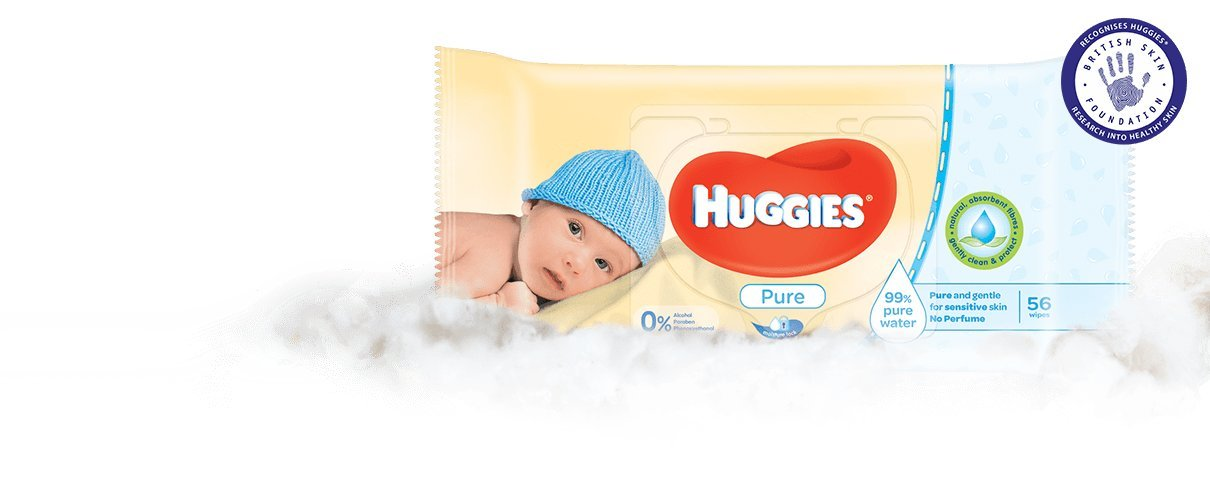 (paquete de 10) Toallitas Huggies Baby Pure 376 g: Amazon.es: Bebé