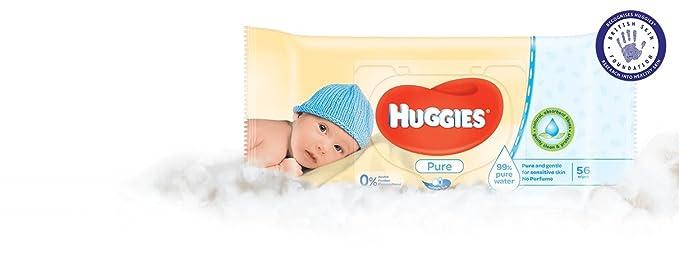 (paquete de 20) Toallitas Huggies Baby Pure 376 g: Amazon.es: Bebé