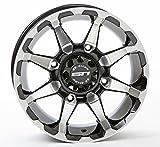 STI HD6 Machined/Black ATV Wheel 14x7 (4/137) - (5+2) [14HD607]