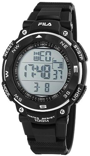 Fila Reloj Digital para Hombre de Cuarzo con Correa en Silicona 38-824-001: Amazon.es: Relojes