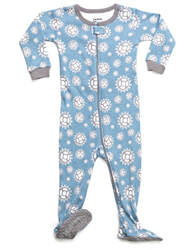 Leveret Organic Cotton Gears Footed Pajama Sleeper 18-24 Months
