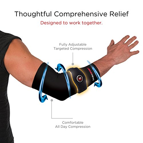 DashSport Copper Tennis Elbow Brace – Copper Compression Elbow Sleeve. Original Elbow System for Complete Support and Pain Relief from Golfer and Tennis Elbow