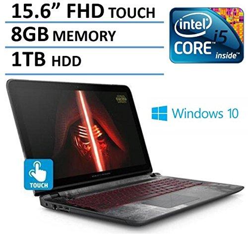 "2016 Newest HP Star Wars Edition 15.6"" Full HD IPS Touchscreen Gaming Laptop, Intel Core i5-6200U Processor, NVIDIA GeForce 940M Graphics, 8GB RAM, 1TB HDD, DVD+/-RW, Backlit Keyboard, Windows 10"