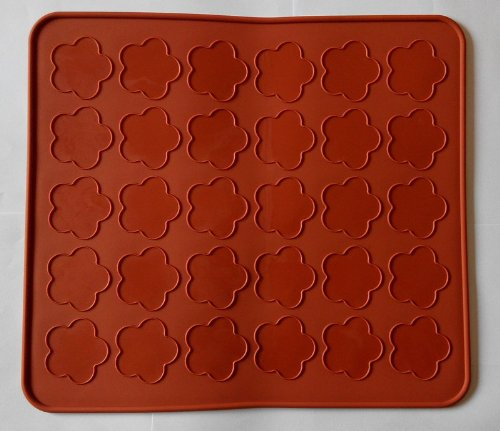 Creativemoldstore 30 Hole Little Cherry Blossoms Silicone Macaron/Dessert Baking Mat