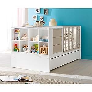 Pali transformable en cuna–Habitaciones con Junior cama Voyager Color Blanco