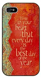 For SamSung Galaxy S6 Case Cover Bible Verse - Write in your heart that every day is the best day of the year - black plastic case / Verses, Inspirational and Motivational