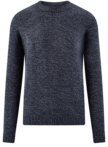 Ultra Homme Bleu Pull Rond Col Droit 7900o Oodji wvd6xqSw