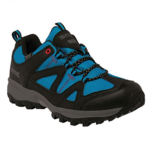Regatta Womens/Ladies Gatlin Low Waterproof Padded Walking Shoes Methyl Blue / Lollipop