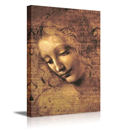 The Head of a Woman (Also Known as La Scapigliata) by Leonardo Da Vinci - Canvas Wall Art Famous Fine Art Reproduction| World Famous Painting Replica on Wrapped Canvas Print ()