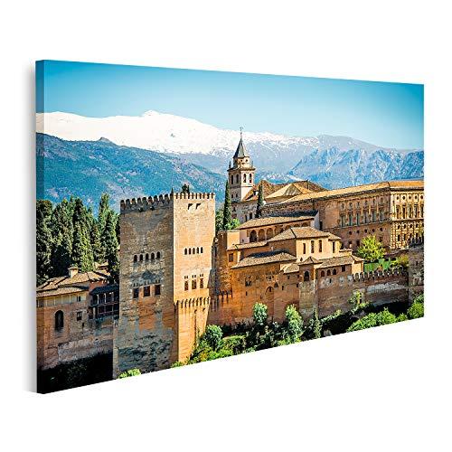 islandburner Cuadro en Lienzo Vista de la Famosa Alhambra de Granada Espana Cuadros Modernos Decoracion Impresion Salon