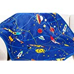 LittleBees-Newborn-Toddler-Soft-Quality-Baby-Blanket-Single-Layer-Blue-Rocket