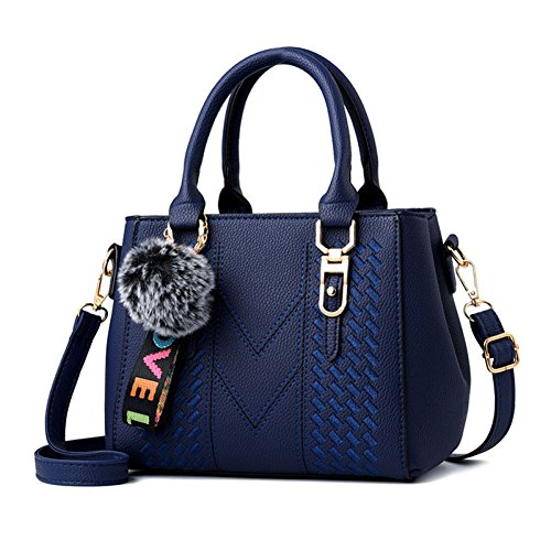 Hombro Mano Mujeres Multifunción Las Cuero Mujer Embrague Moda De Bolsos Blue Bandolera Mensajero Compras Bolso Bolsas xvqwU6A5