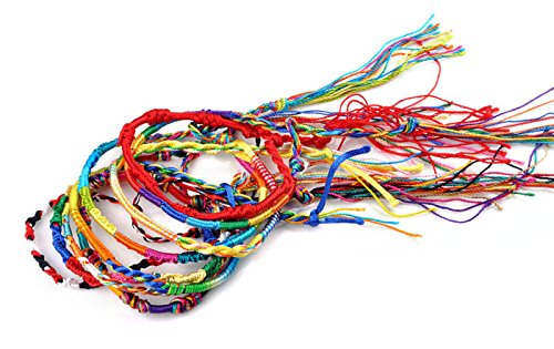 UMFun50Pcs Jewelry Lot Braid Strands Friendship Cords Handmade Bracelets ()