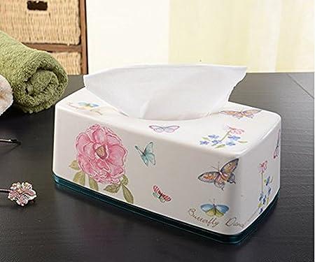 Caja para pañuelos de flores y mariposas de coche cajas de caja ...