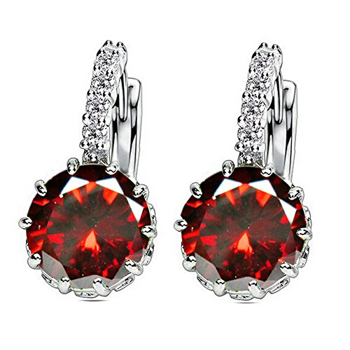 1-pair-fashion-women-elegant-crystal-rhinestone-silver-plated-ear-stud-earrings-red