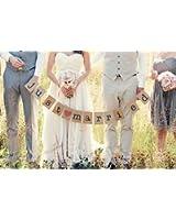 """Musuntas Girlande Vintage / Rustikal Kraftpappe """"Just Married"""", - als Deko zur Hochzeit"""