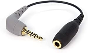 Rode SC4 3.5mm TRS to TRRS Microphone Cable Adaptor, 3 Inches