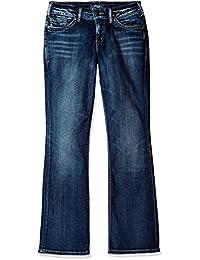Silver Jeans Co. womens Silver Jeans Suki Mid Rise Slim Bootcut Jean