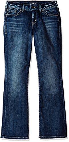 Silver Jeans Co. Women's Suki Curvy Fit Mid Rise Slim Bootcut Jeans Silver Jeans Juniors Jeans