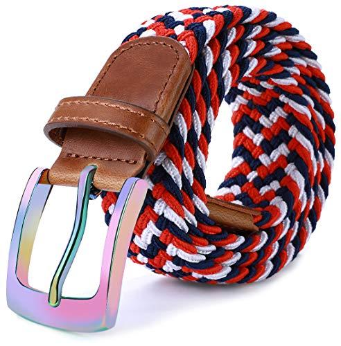 Mens Stretch Belt,Bulliant Woven Stretch Braided Belt For Me