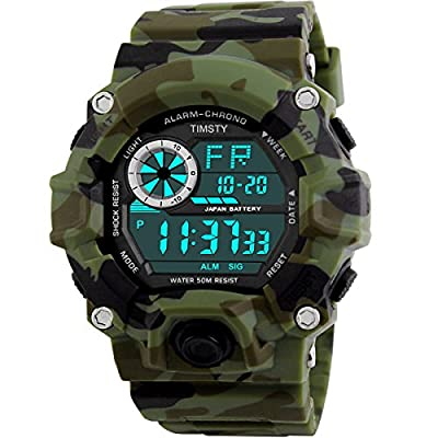 Timsty Digital Sports Boys Watch Waterproof Military Camouflage Great Christmas Gift for Boys & Teens by Timsty
