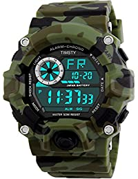 Digital Sports Boys Watch Waterproof Military Camouflage Great Christmas Gift for Boys & Teens