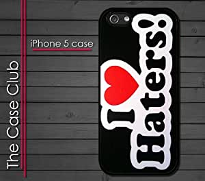 iPhone 5 Rubber Silicone Case - I Love Haters Dont be a hater hate the game