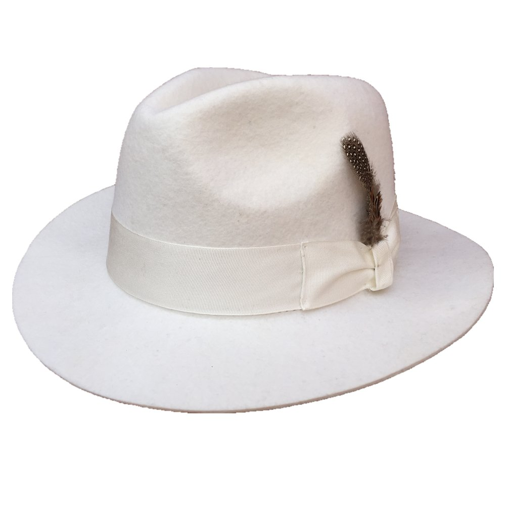 74fe2d60381 Wool felt men or womens white fedora hat at amazon womens clothing store  jpg 1001x1001 White