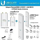 Ubiquiti RocketM900 2-PACK 900MHz + Airmax Sector Antenna 13dBi 120deg 2-PACK