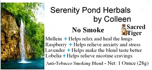 Serenity Pond Herbals By Colleen Anti-tobacco Smoking Blend Herbal Remedy Sold Exclusively By Sacred Tiger (Two Ounces) 2 Oz Pipe Tobacco