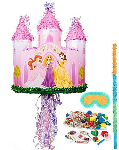 BirthdayExpress - Disney Princess Castle Pull-String Pinata Kit - Multi-Colored
