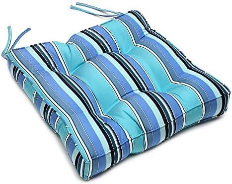 22.5″ x 22″ x 4″ Tufted Sunbrella Chair Back Cushion Sunbrella Dolce Oasis - a good cheap outdoor chair cushion