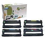 Green Toner Supply (TM) New Compatible [Brother DR221CL] 1 Black, 1 Cyan, 1 Yellow, 1 Magenta LaserJet Imaging Drum Cartridges