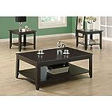 Monarch Specialties INC Home Living Room Cappuccino 3Pcs Table Set