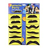 CNluca 12pcs Funny Stylish Costume Party Fake Beard Mustache Party Halloween Fun Fake Mustache Moustache Beard Whisker