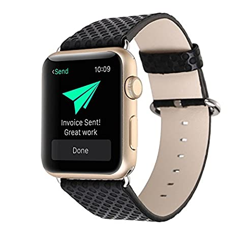 Kobwa 38MM/42MM Watch Band for Apple Watch, Fashion Vintage PU Leather Band Polka Dots SmartWatch Bracelet Strap Replacement Watchband for Apple Watch IWatch Series 1 - Vintage Leather Accessories