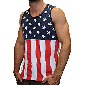 Pacific Surf Men's All-Over Print Tank Slim Fit Muscle Shirt