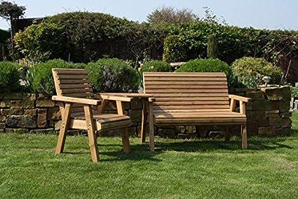 Banco de jardín de madera y sillas madera maciza muebles respaldo ...