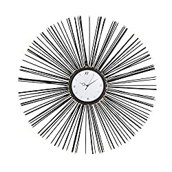 Deco 79 Wall Clocks, Large, Black, White, Gold