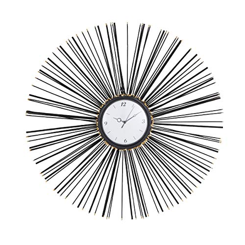 Deco 79 Wall Clocks, Large, Black, White, Gold