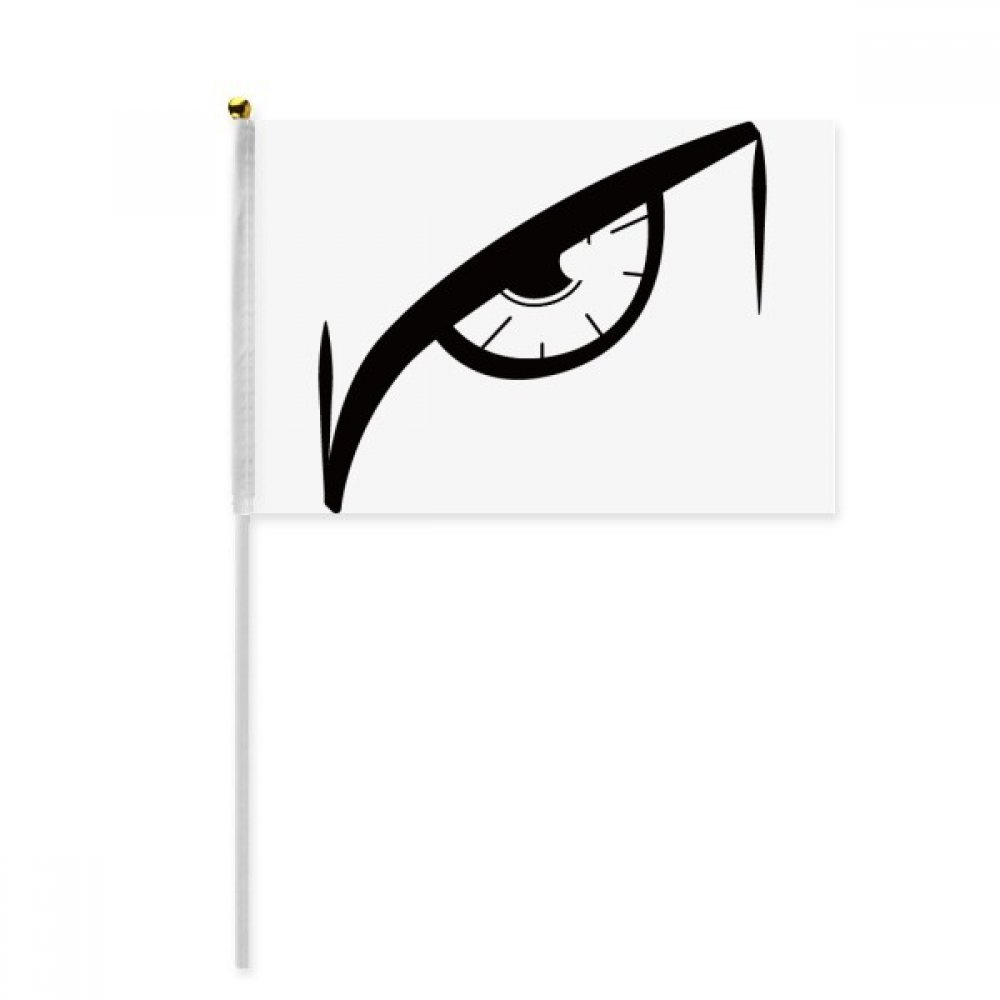 Black Vector Eye Decoration Pattern Hand Waving Flag 8x5 inch Polyester Sport Event Procession Parade 4pcs