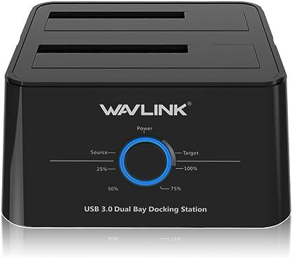 WAVLINK Base de conexión USB 3.0 a SATA Disco Duro Externo Docking ...