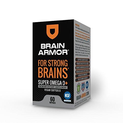 Brain Armor - Super Omega-3 Vegan Softgel Capsules - 1,283 mg of Omega-3s