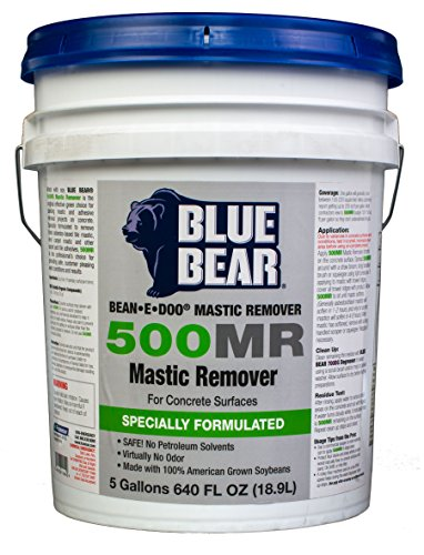 BLUE BEAR 500MR Mastic Remover For Concrete Surfaces 5 Gallon